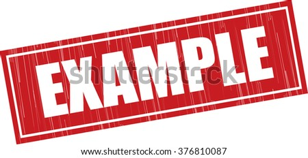 Example grunge rubber stamp. - stock photo