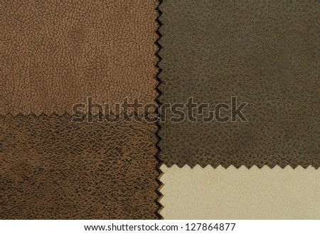 Example Leather From Material Catalog - stock photo
