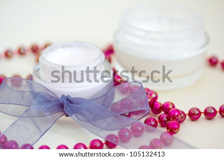 example of luxury spa beauty products - stock photo