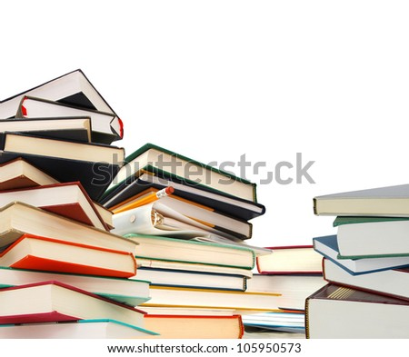 Exams on stacking books - stock photo