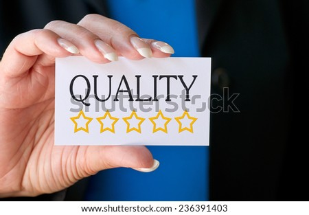 Excellent Quality - Five Stars - stock photo