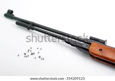 Excellent Shotgun on a white background - stock photo