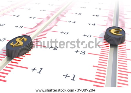 Exchange rate concept. Hi-res digitally generated image. - stock photo