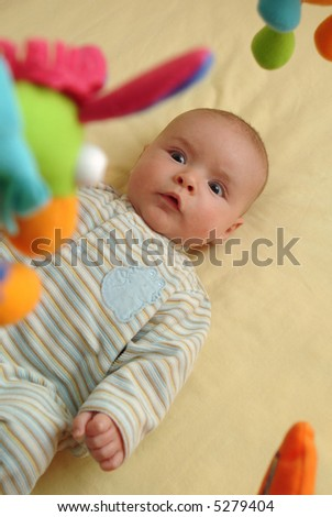 Excited Baby - stock photo