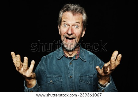 Excited Man - stock photo