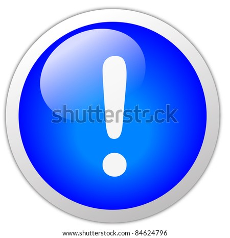 Exclamation Icon Button - stock photo