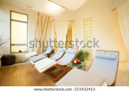 Exclusive design of new modern spa interior - stock photo