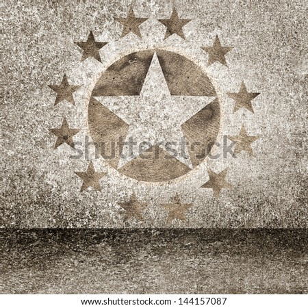 Exclusive gold star hollywood event awards night background. Celebrity walk of fame - stock photo