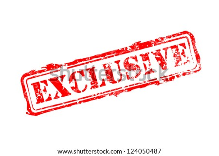Exclusive rubber stamp - stock photo