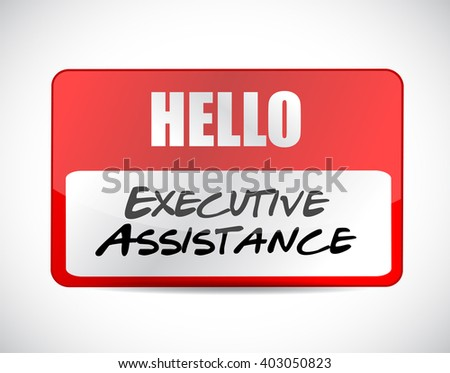 executive assistance name tag sign concept illustration design graphic - stock photo
