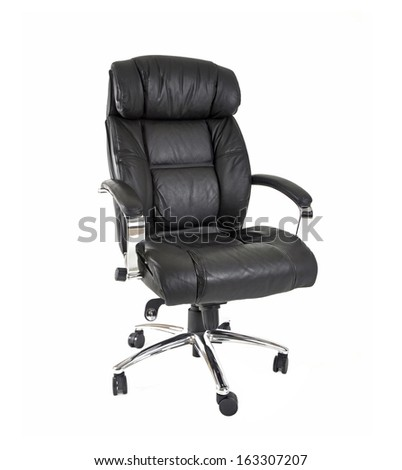 Executive chair on white background - stock photo