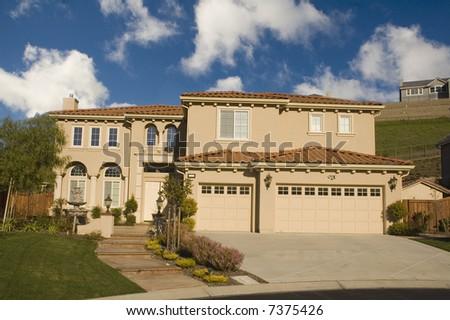 Executive home in Northern California - stock photo