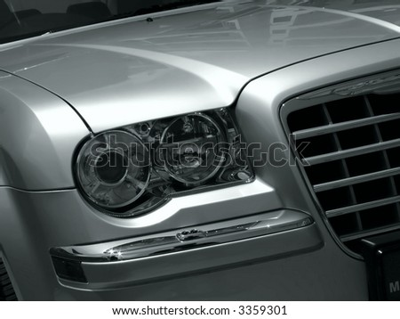 Executive & Vintage Series - various images depicting details from executive automobiles - stock photo
