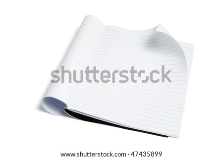 Exercise Book on Isolated White Background - stock photo