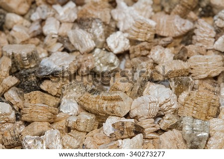 Exfoliated perlite and vermiculite texture background - stock photo