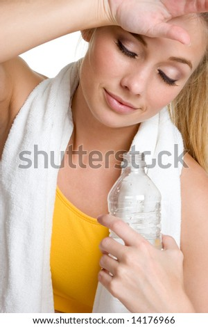 Exhausted Fitness Woman - stock photo