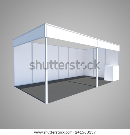 exhibition booth stand kiosk event counter - stock photo