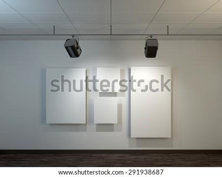 Exhibition interior - stock photo
