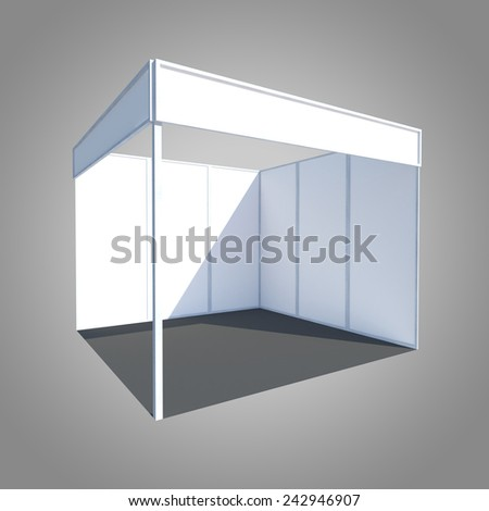 exhibition stand booth kiosk partition event - stock photo