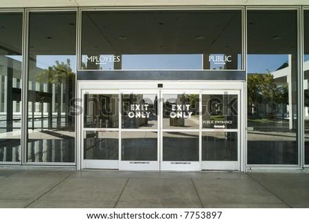 Exit Door - stock photo