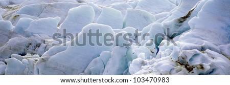Exit Glacier at Harding Ice field, Kenai Mountains, Seward, Alaska - stock photo