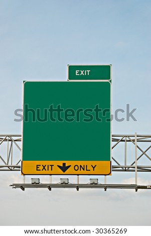 exit information - stock photo