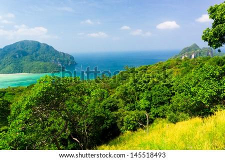 Exotic Backdrop Heaven Seascape  - stock photo
