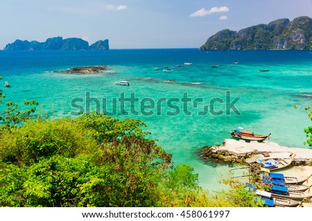 Exotic Backdrop High Above  - stock photo