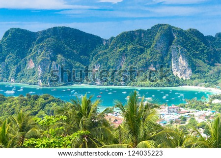 Exotic Backdrop High Viewpoint - stock photo