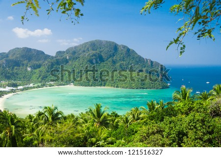 Exotic Backdrop Scenic  Holidays - stock photo