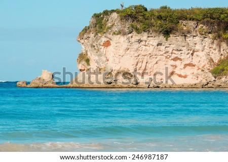 Exotic caribbean beach - stock photo