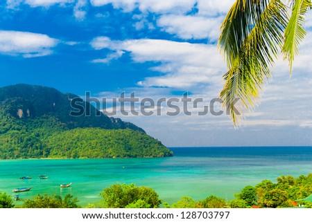 Exotic Getaway Idyllic Island - stock photo