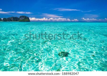 Exotic Getaway Idyllic Seascape  - stock photo