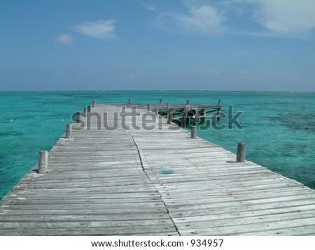 Exotic Pier - stock photo