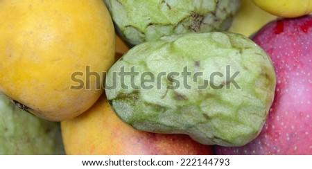 exotics fruits - stock photo