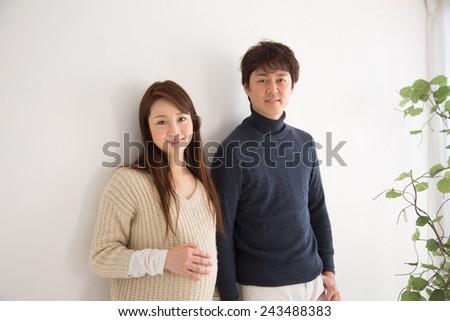 expecting - stock photo
