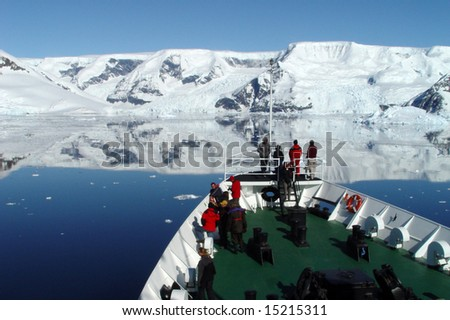 Expedition to Antarctica - stock photo