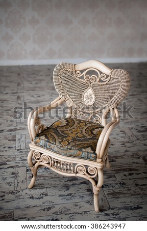 expensive wicker chair - stock photo