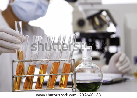 Experiments in the laboratory to. - stock photo