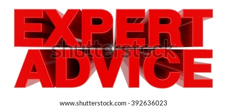 EXPERT ADVICE word on white background 3d rendering - stock photo