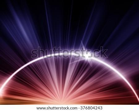 Exploding galaxy background - stock photo