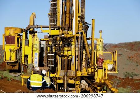 Exploration Drilling - Australia - stock photo