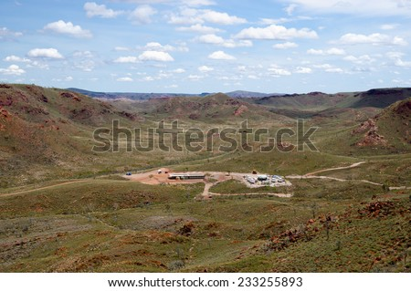 Exploration Mining Camp - Australia - stock photo