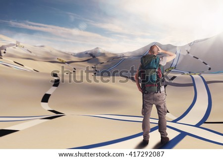 Explorer itinerary - stock photo