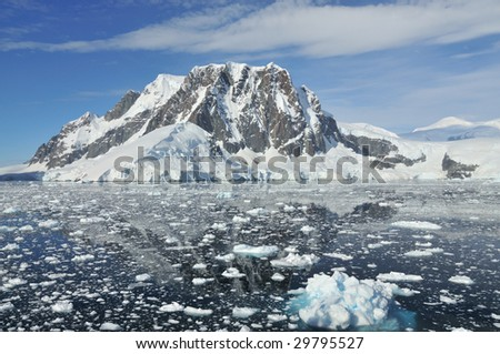 Exploring Antarctica - stock photo