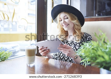 Exploring the websites for inspiration me - stock photo