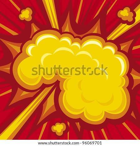 Explosion (Comic Book Explosion Background) - stock photo