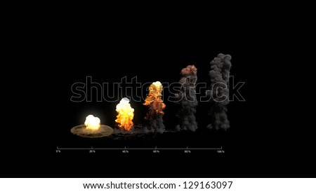Explosion Graph - stock photo
