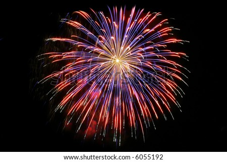 Red Explosion Explosion of Red Firework in