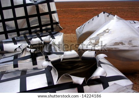 Explosive and missile test artefacts. - stock photo